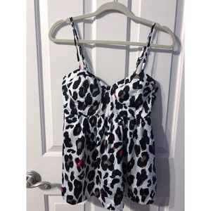 Forever 21 Bustier Cheetah Print Top